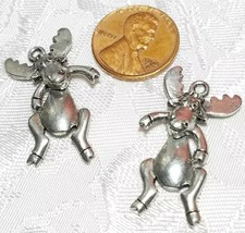 WIGGLY MOOSE FINE PEWTER PENDANT - 16mm L x 30mm W x 6mm D image 2