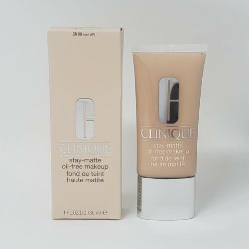 New Clinique Stay-Matte Oil Free Makeup 08 LINEN 1oz. / 30ml - $22.43