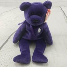 "Beanie Babies Princess Bear TY 1997 Plush Toy Stuffed Animal 9"" Used With Tags  - $25.73"