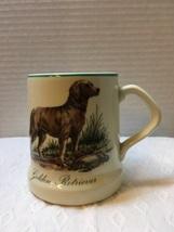 Vintage GOLDEN RETRIEVER Coffee Mug Dog Collectible Pottery Cup Decor or... - $9.00