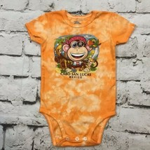 Cabos San Lucas Infant Sz 18Mos Body Suit Pirate Monkey Tee Elans Art  - $9.89