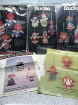 Vintage Bucilla Felt Appliqué Christmas Ornament Kits 48783 3590 3584 21... - $42.38