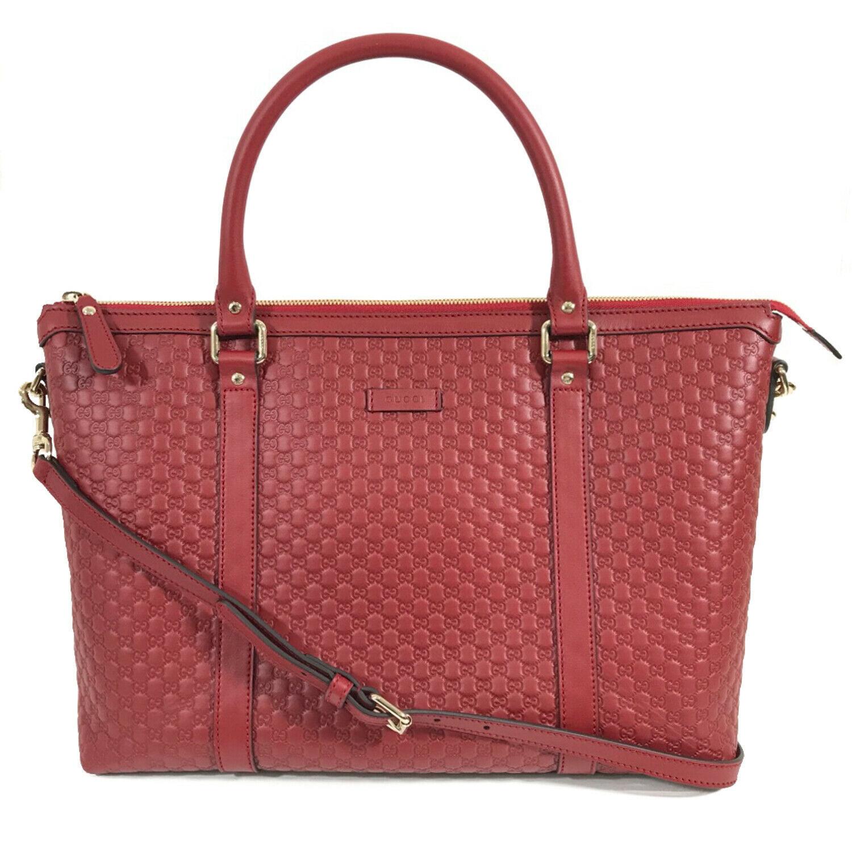 NEW GUCCI Microguccissima Leather Zip Top Crossbody Handbag