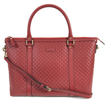 NEW GUCCI Microguccissima Leather Zip Top Crossbody Handbag - $1,430.00