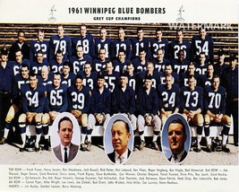 CFL 1961 Grey Cup Champion Winnipeg Blue Bombers Team Photo Color  8 X 10 Photo - $6.99