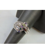 Womens Vintage Estate Sterling Silver Multi Stone Mothers Ring 6.2g E5162 - $34.65