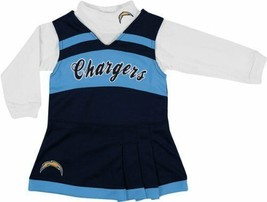 LA Los Angeles Chargers Youth Girls Jumper & Turtleneck Cheerleader Chee... - $9.95