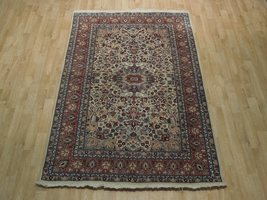 Ivory Wool Carpet 5 x 7 Fine Quality Reproduction Traditional Handmade Rug image 4