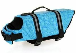 Dog Life Jacket Vest Saver Safety w/Reflective Stripes/Adjustable Belt (Small)
