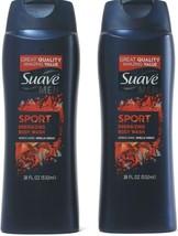 2 Count Suave Men Sport Energizing Body Wash Works Hard Smells Great 18Fl Oz - $21.99