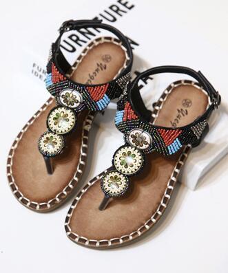 Brown Women Crystals Summer Sandals,Beach sandals,Gladiator & Strappy Sandals image 2