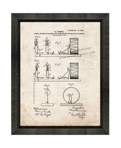 Drum Patent Print Old Look with Beveled Wood Frame - $24.95+