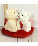 Hallmark Teddy Bear Plush Kissing Couple Talking Angel Wings Red Heart Valentine - £15.81 GBP
