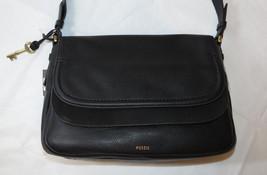 Fossil  ZB7101001 Peyton LG Double Flap Crossbody Leather handbag purse ... - $146.71