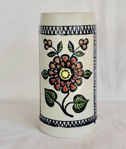 Vintage One Of A Kind Colorful Hand Painted Blue Delft Budweiser CS11 Var Stein - $395.01