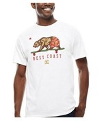 DC Shoes Co. Cali Bear White Graphic T-Shirt Short Sleeve Size Medium Cr... - $8.33