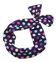 2 Of Classics Hair Accessories Dots Bowknot Headband NAVY