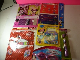 Disney Minnie Mouse 6 Piece Lot- Book, Pen Goggles and More - $14.84