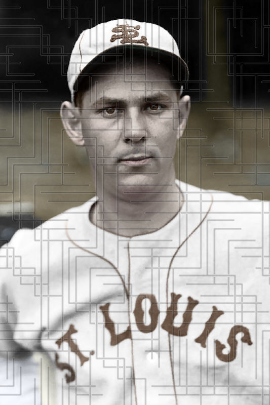 "Primary image for Jack Knott - 1933 St. Louis Browns - 4""x6"" colorized print"