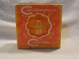 Flintstones Vintage Ritepoint Plastic Coaster Set w/Fred Flintstone Rock... - $19.95