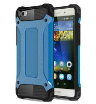 Armor Dual-layer Shockproof Protective Cover Cases for Huawei P8 Lite - Blue  - $4.99