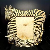 Vintage Zebra Picture / Mirror Resin Frame  Popular Imports, 2000  Item # MR4024