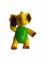 """Rain Forest Cafe Elephant Figure 4"""" 2000 Restaurant Toy Tuku Yellow Vtg - $9.89"""