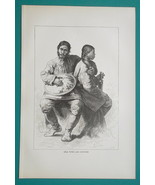 RUSSIA Tungus People Nanai Golds Ethnic Group - 1884 Antique Print Xylog... - $18.00