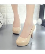 84h046 elegant candy color thick heel pump, patent leather Size 4-10, ap... - $38.80