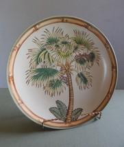"Siddhia Hutchinson Palmetto Palm 10 1/2"" Decorative Plate - Andrea by Sadek - $13.99"