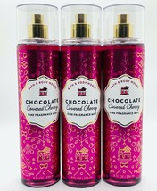 3 Bath Body Works Chocolate Covered Cherry Fine Fragrance Mist Spray 8 f... - $39.55