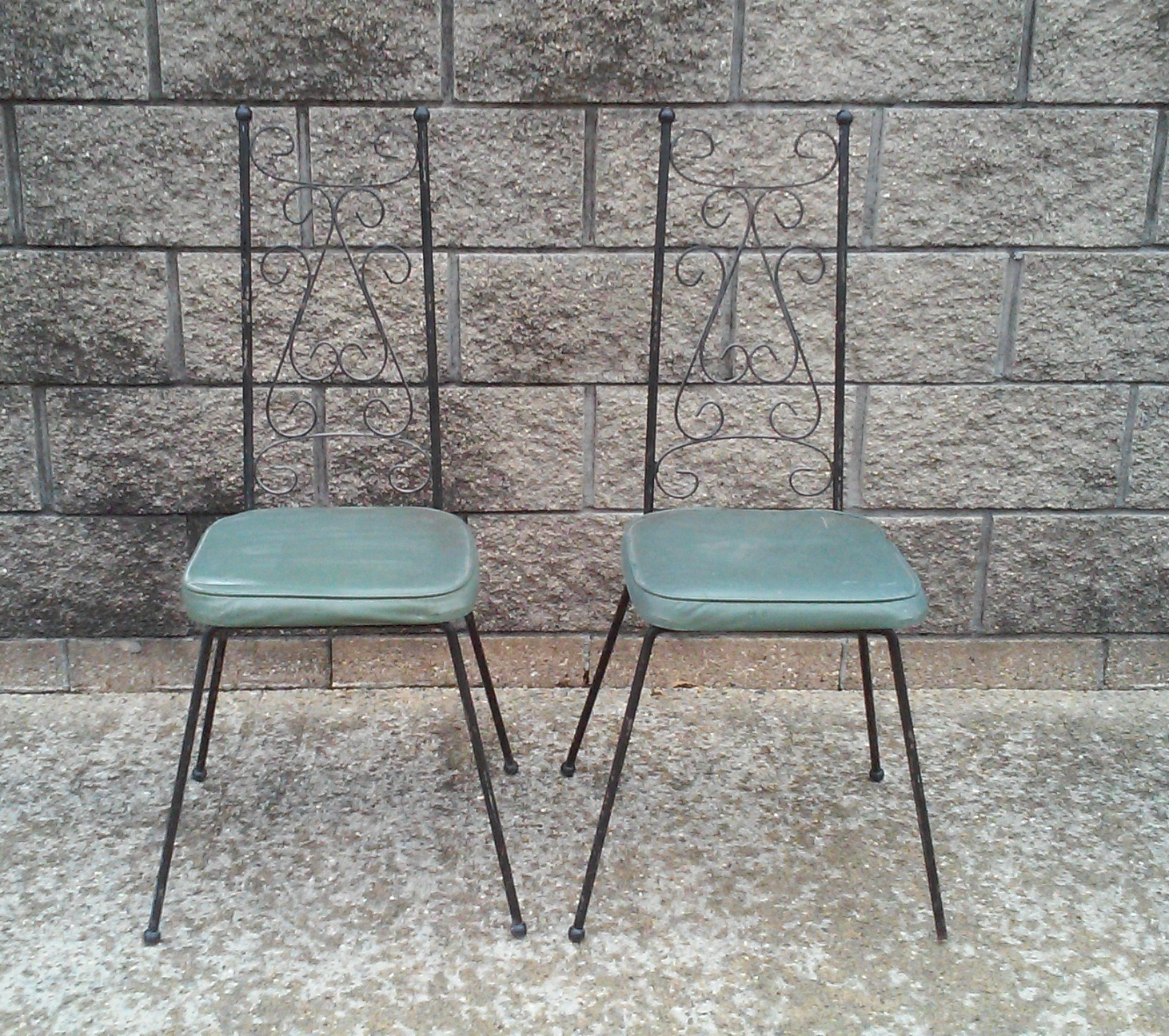 Arthur Umanoff Style Mid-Century Iron Chairs-A Pair