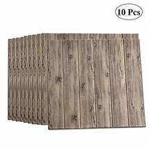 LEISIME 3D Wall Sticker Self-Adhesive Wall Panels Waterproof PE Foam Wood Veins  - $98.89
