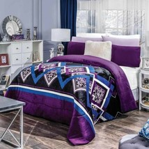Lara Geometric Flannel Extra Soft Blanket Very Softy Thick And Warm King Xl Size - $99.00