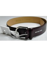 MICHAEL KORS BELT BURGUNDY  WITH SILVER BUCKLE GENUINE LEATHER MSRP $58 ... - $45.00