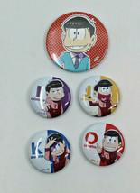 Osomatsu San Round Tin Metal Badge FA/O Japanese Anime Fujio Akatsuka Se... - $23.30
