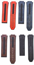 4 Color BigBang Alligator Design 25mm Leather Plated Rubber Watch Strap ... - $29.00