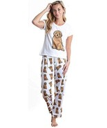 Dog Doodle pajama set with pants for women Poodle Golden Doodle - $35.00