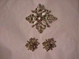 """Vintage Sarah Coventry Brooch and Earrings Set """"Galaxy"""" Gorgeous - $29.95"""
