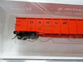 Trainworx Stock # 25201-23 to -24  Rio Grande Orange Paint Scheme 52' Gondola (N image 2