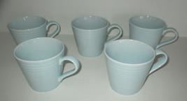Lot 5 Royal Doulton Gordon Ramsey Light Blue Maze Cups  - $22.98