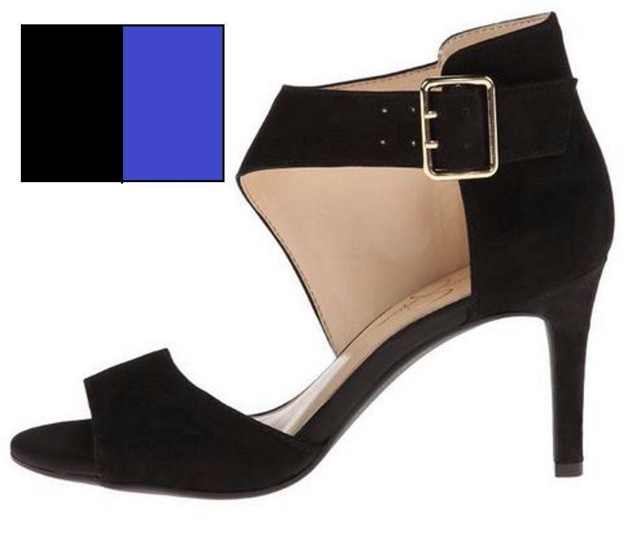 Primary image for Women's Shoes Jessica Simpson MARRIONN D'Orsay Dress Sandal Nubuck Black or Blue