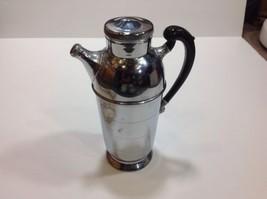 Vintage Farber Bros. KROME-KRAFT Cocktail Shaker - Black Handle - $25.23