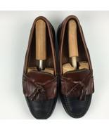 Allen Edmonds Nashua Tassel Loafer Men's Size 8.5 D Leather Black And Brown - $31.64