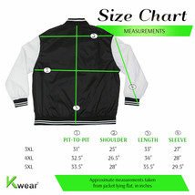 ROK Men's Big & Tall Plus Size Lightweight Nylon Zip Windbreaker Bomber Jacket image 2