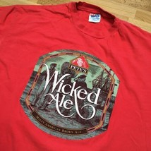 90s Vintage Pete's Wicked Ale Beer XL T Shirt Hanes Beefy USA 80s Malt A... - $29.70