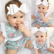 NewBorn Girls Kids Infant's Sleeveless Lace Floral Romper Jumpsuit Sleep... - $19.90