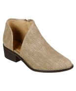 Vintage 93 Women's Taupe Faux Leather Perforated Cut-Out Booties Size 10... - $34.65