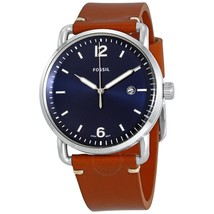 Fossil Commuter Blue Dial Brown Leather Men's Watch FS5325 - $129.50