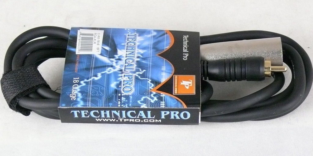 Technical Pro C-RX-16-25 25 Foot male RCA to male XLR 25ft 16 gauge